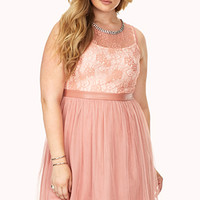 Party Hour Lace & Tulle Dress