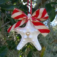Starfish Coastal Holiday Ornament-TRADITIONAL-Christmas Ornament, Gifts under 10, Stocking Stuffers, Beach Home Decor, Starfish Home Decor