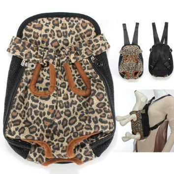 Colorful Cotton Canvas Puppy Pet Dog Carrier Front Backpack Net Bag