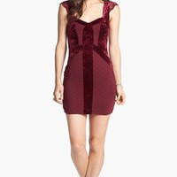Free People 'Madeline' Velvet Trim Sheath Minidress | Nordstrom