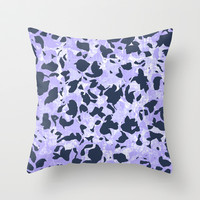 Camouflage #3 - Purple Throw Pillow by Ornaart