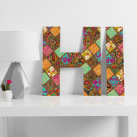 Aimee St Hill Patchwork Paisley Orange Decorative Letters