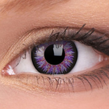 Glamour Violet Colour Contact Lenses, Glamour Violet Contacts | EyesBright.com
