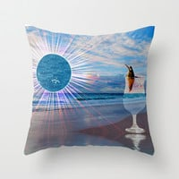 BEACH FANTA-SEA Throw Pillow by catspaws