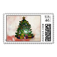 Bistro Christmas Tree Postage