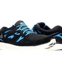 Nike Men's NIKE FREE RUN 2 RUNNING SHOES 9.5 Men US (BLACK/DARK GREY/BLACK/BL HERO)