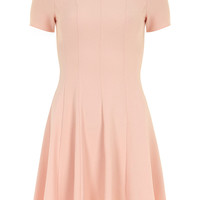 Peach crepe dress