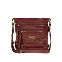 DARK RED MINI CROSS BODY MESSENGER BAG