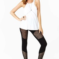 Nasty Gal Dark Diamond Leggings