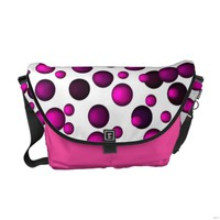 Polka-Dot Messagner Bags Courier Bag
