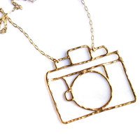 Bronze Camera Necklace