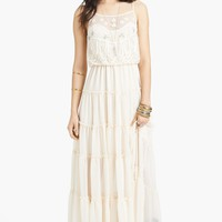 Free People 'Penny' Lace & Georgette Maxi Dress | Nordstrom