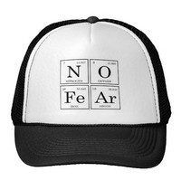 Zazzle No Fear Periodic Table Hat