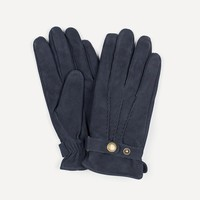 Crosstown Suede Gloves in Navy