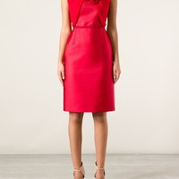 GIAMBATTISTA VALLI gathered shift dress
