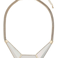 IRIDESCENT BLOCK SHAPE NECKLACE