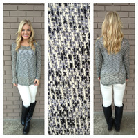 Black & White Knit Chelsea Top