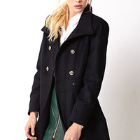 Nautical Wool-Blend Coat