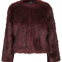 Soft Faux Fur Cropped Jacket