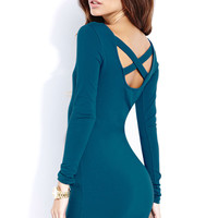 Crisscross Bodycon Dress