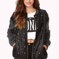 Total Stud Bomber Jacket