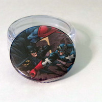 Comic Book 1.5 Button// Batman vs Captain America