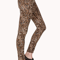 Jungle Leopard Skinny Jeans