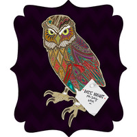 Sharon Turner Little Brother Owl Quatrefoil Magnet Board
