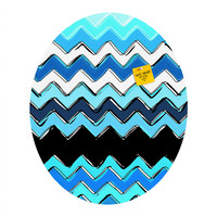 Sharon Turner Ocean Chevron Oval Magnet Board