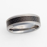 Triton Woven Inlay Tungsten Carbide Band | Nordstrom