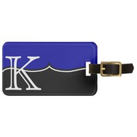 GIRLY Personalized DARK BLUE Monogram Custom