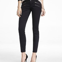 BRUSHED SATEEN HIP ZIP ANKLE PANT