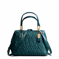 MADISON MINI SATCHEL IN GATHERED TWIST LEATHER