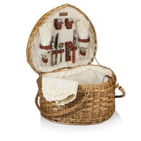 Kabrio Willow Wine & Cheese Picnic Basket - Service for 2