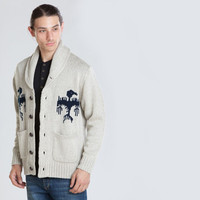 Men's Bird Cardigan Sweater (Heather Oatmeal)