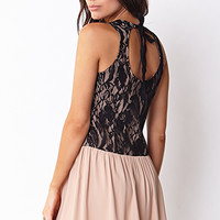 Lovely Lace Drop Waist Dress
