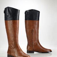Vachetta Two-Toned Riding Boot