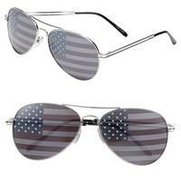 BP. American Flag Aviator Sunglasses (Juniors) | Nordstrom