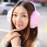Fluffy Faux Rabbit Fur Unisex Accessory Earmuffs Earwarmers Earcap Solid Winter