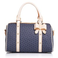 Bowtie Mixed Colors Elegant Tote Crossbody Bag