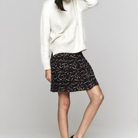 Band Of Outsiders Mini Skirt in Black