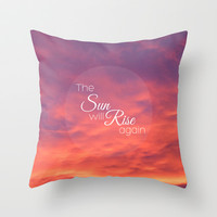 Sunrise Throw Pillow by Ally Coxon