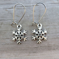 Snowflake Earrings Dangling