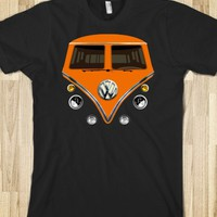ORANGE VW VOLKSWAGEN MINI VAN BUS COMBI CAMPER TEE TSHIRT