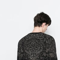 SWEATER WITH EMBROIDERED YOKE