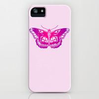Pink Butterfly iPhone & iPod Case by LookHUMAN