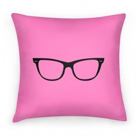 Large Glasses Pillow Pink
