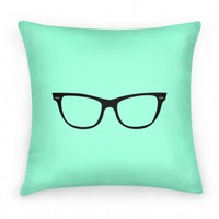 Large Glasses Pillow Mint