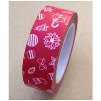 Washi Tape - Red holiday festive 11yards WT528