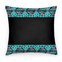 Aztec Pillow Black